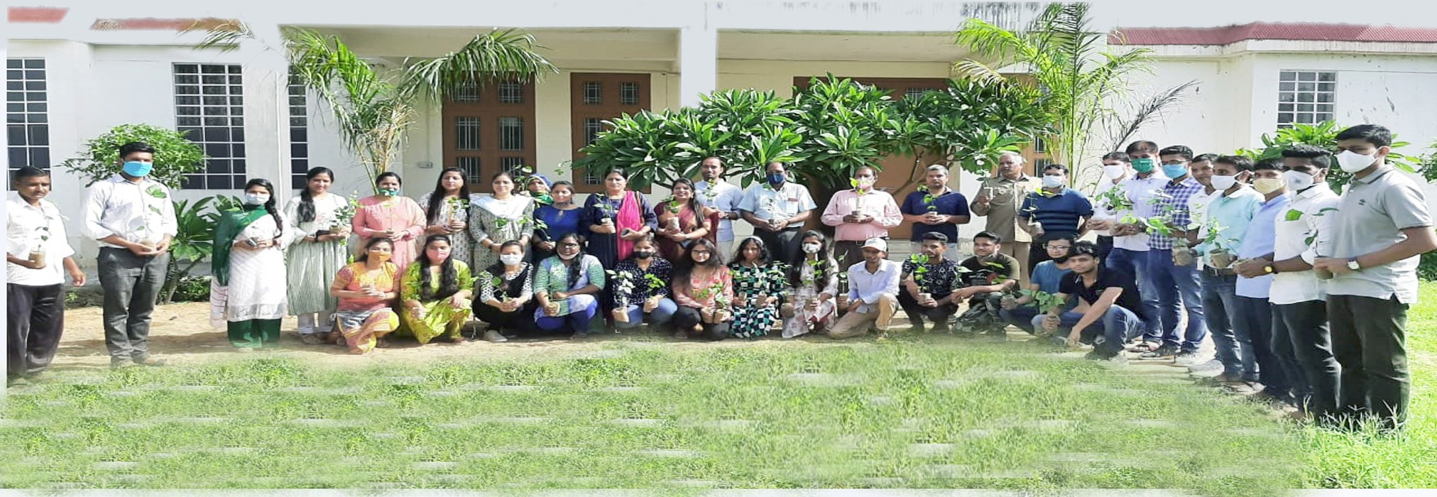 Tree plantation at MJFACH on the occasion of 75th Independence Day celebration